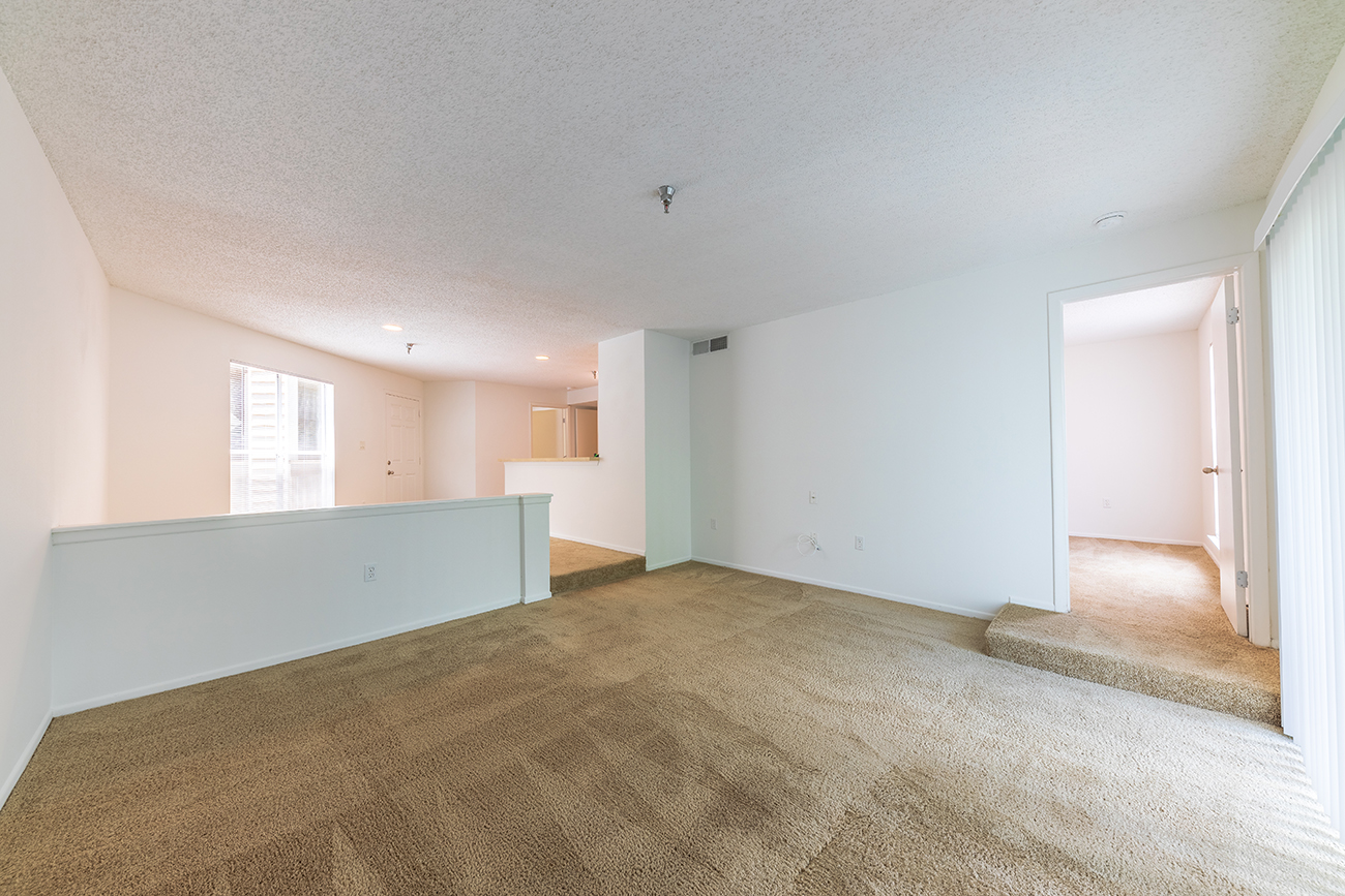 The Elm (2 Bedroom): Step-down to living room