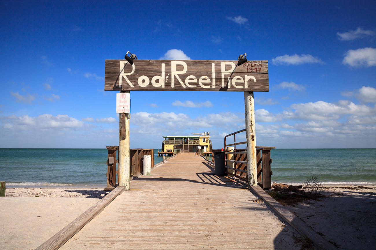 Cast a line at Rod and Reel Pier boardwalk while you're on Anna Maria Island!