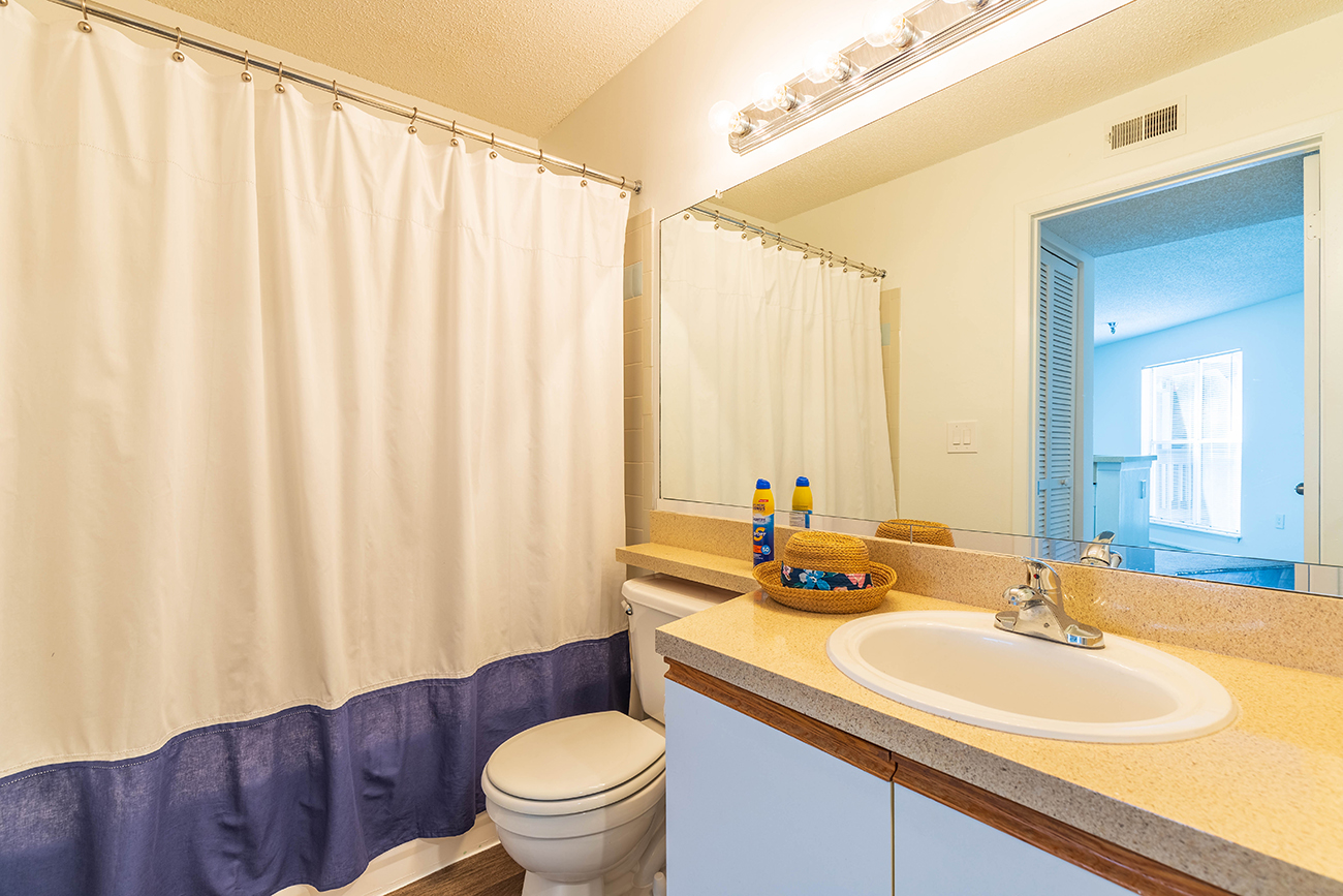 The Elm (2 Bedroom): Large vanity top space for ease in getting ready