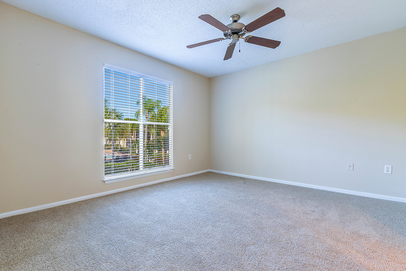 The Ficus (3 Bedroom): Ceiling fans in all bedrooms (with overhead lighting in select units)