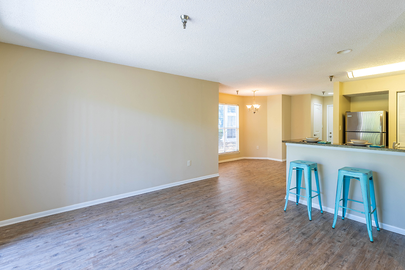 The Cypress (2 Bedroom): Breakfast bar and designated dining area or office nook