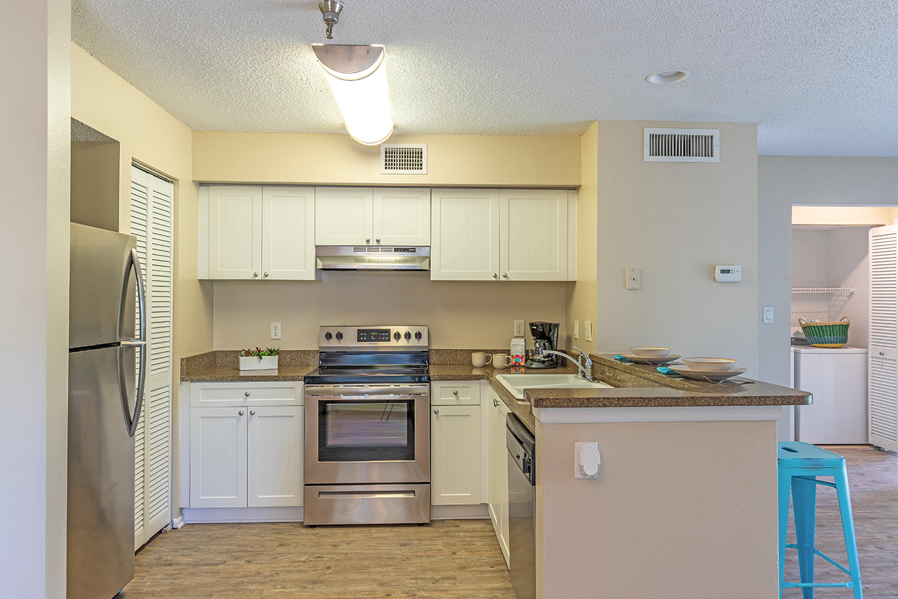 The Cypress (1 Bedroom): Stainless steel appliances in select homes