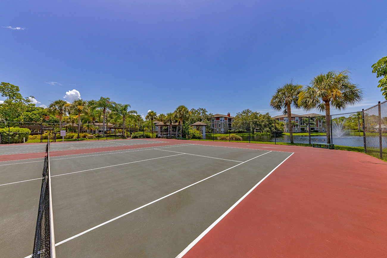 2 full-size tennis courts