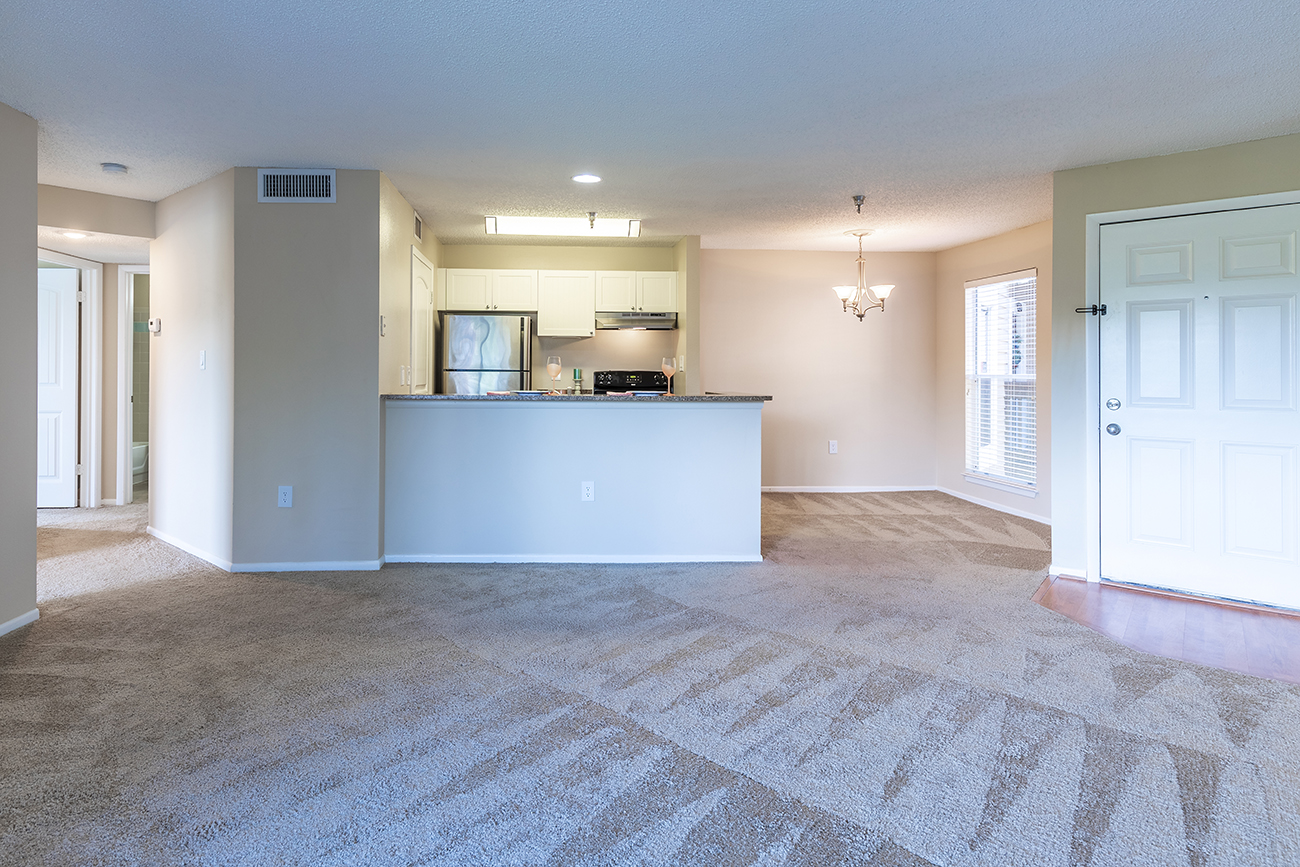 The Dogwood (2 Bedroom): Separate dining area and breakfast bar