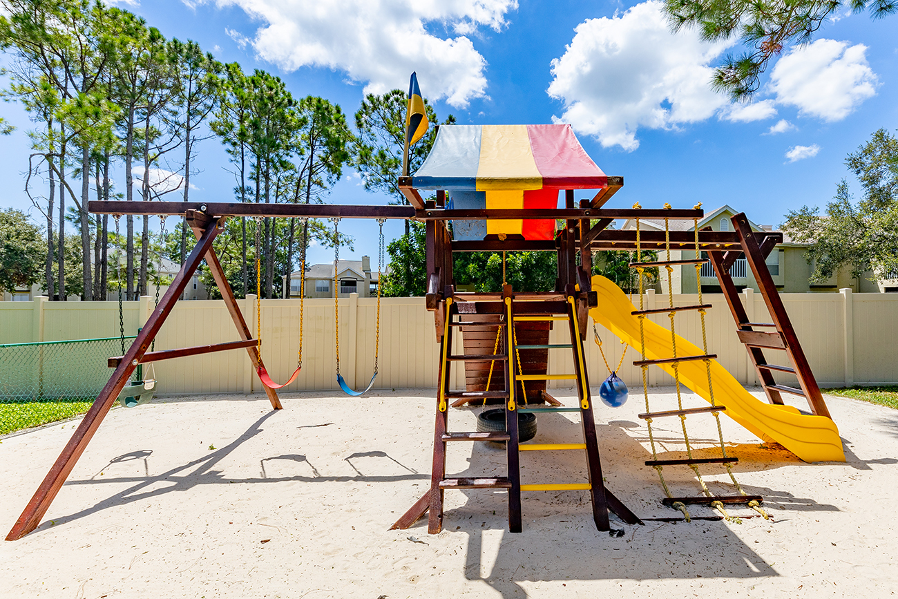 Private fenced playground