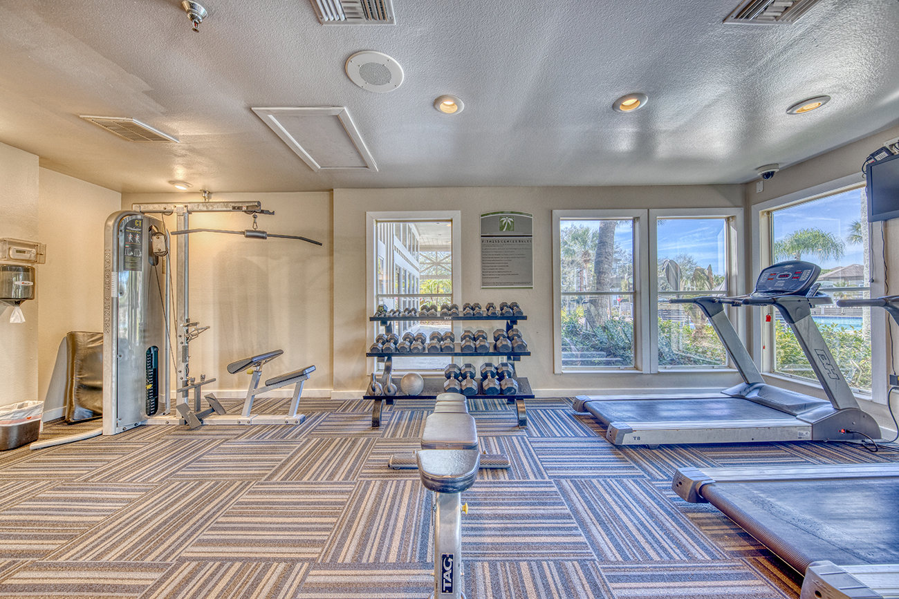 Features cardio and weight equipment