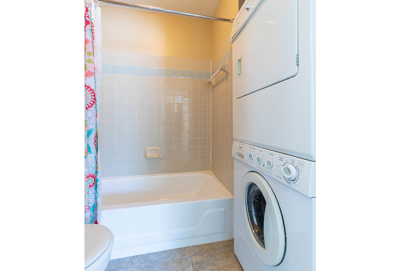 The Ashe (1 bedroom): Stackable laundry
