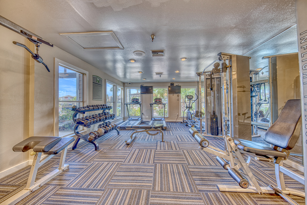 24-hour private fitness center